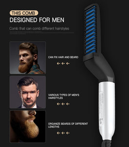 Electric Multifunctional Quick Beard Straightener Styler Comb