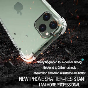 Transparent Shockproof Soft Silicone Case