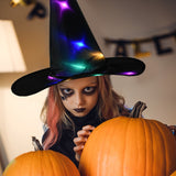 HALLOWEEN Decorations Glowing Witch Hat 2 in 1 Hanging/Wearable