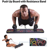 Push Board with Resistance Band