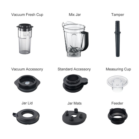 Bonsenkitchen Vacuum Blender