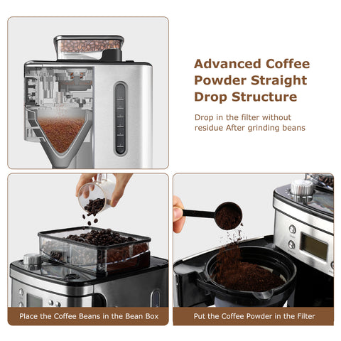Bonsenkitchen CM8005 Coffee Maker With Burr Conical Grinder