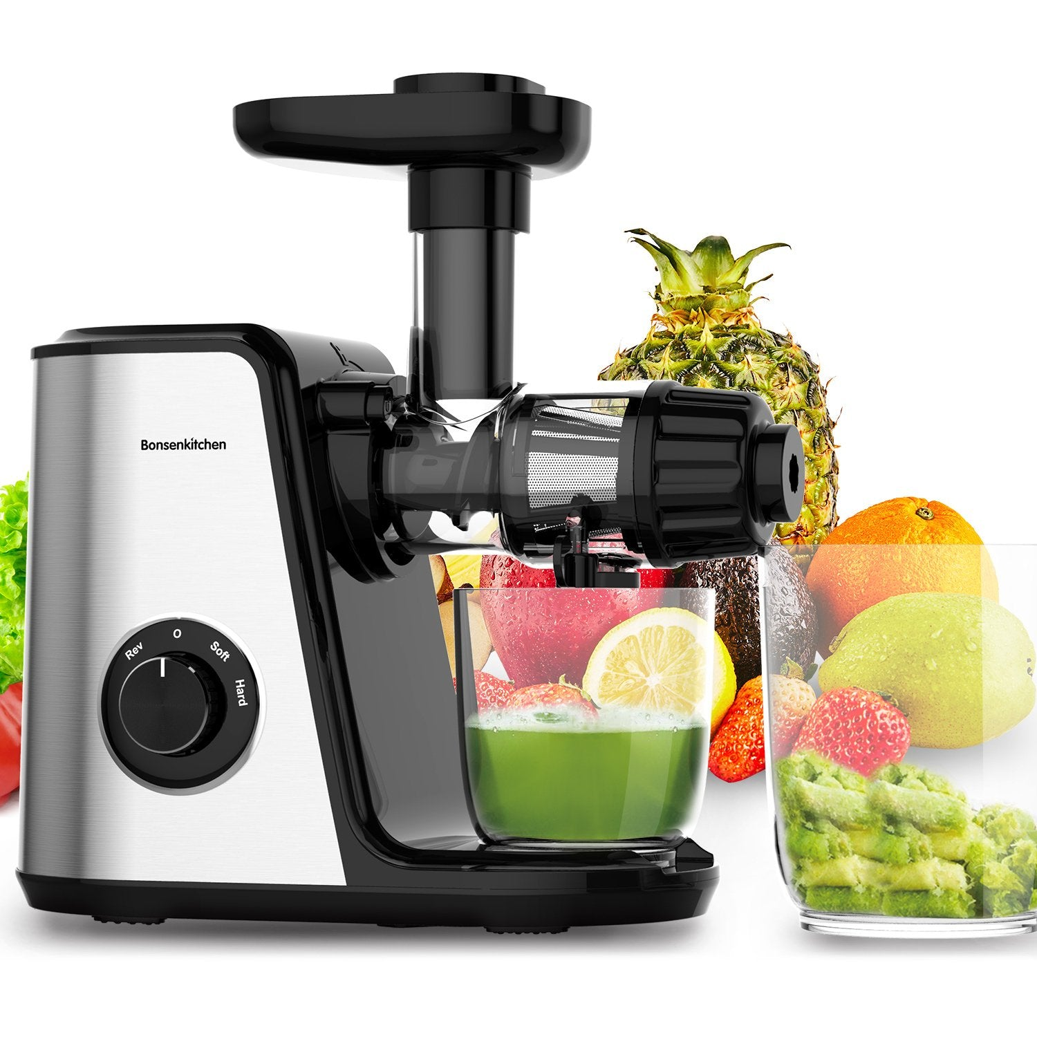Bonsenkitchen MJ8901 Slow Masticating Juicer Extractor
