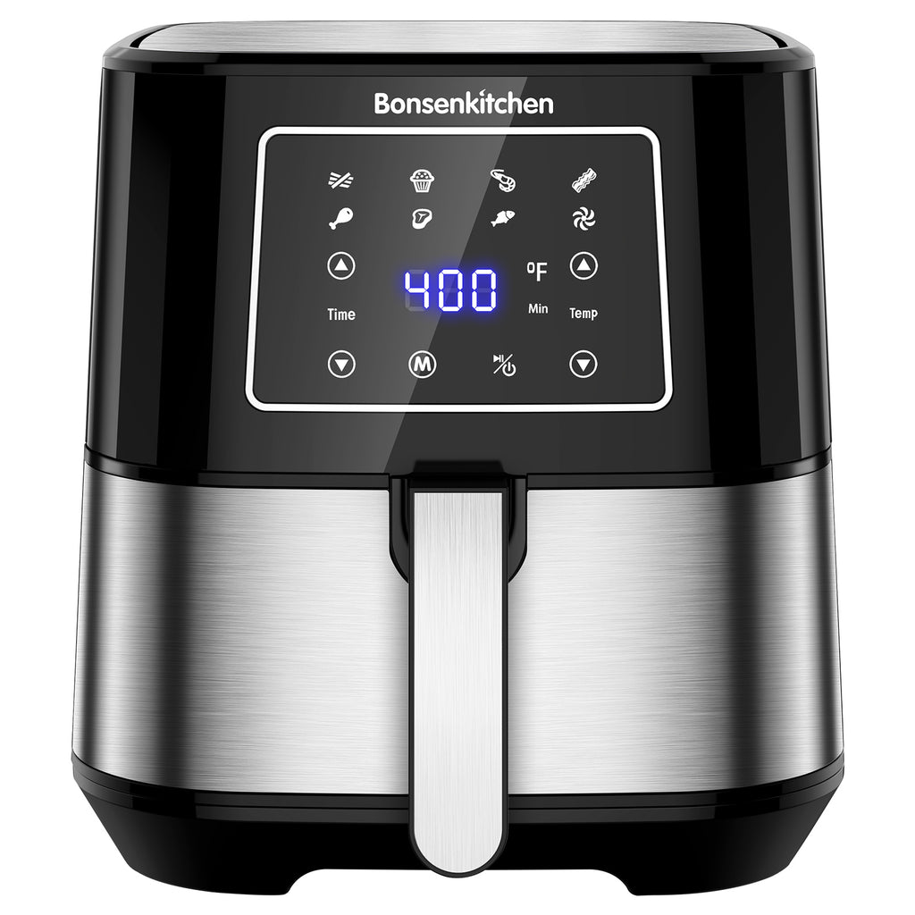 Bonsenkitchen AF8003 6-Quart Air Fryer, Stainless Steel Air Fryers Toaster Oilless Cooker