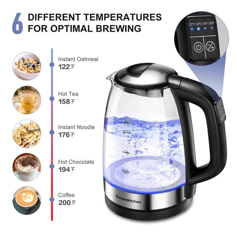 Bonsenkithcen EK8903 Electric Glass Kettle