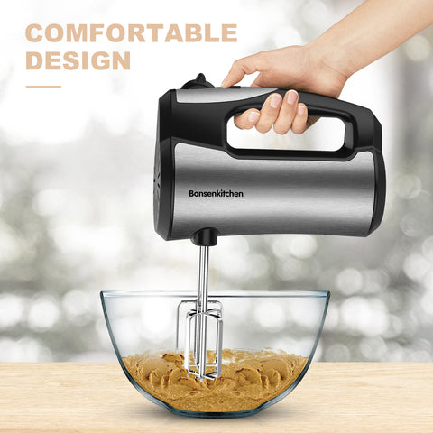 Bonsenkitchen HB8002 5-Speed 4 in 1 Hand Mixer
