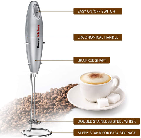 Bonsenkitchen Electric Frother Blender with stand