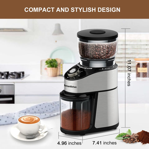 Bonsenkitchen Automatic Electric Mill Coffee Grinder