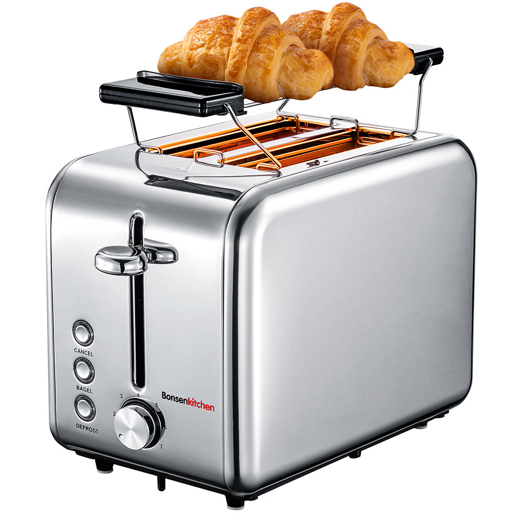 Bonsenkitchen Extra-Wide Slot Toaster