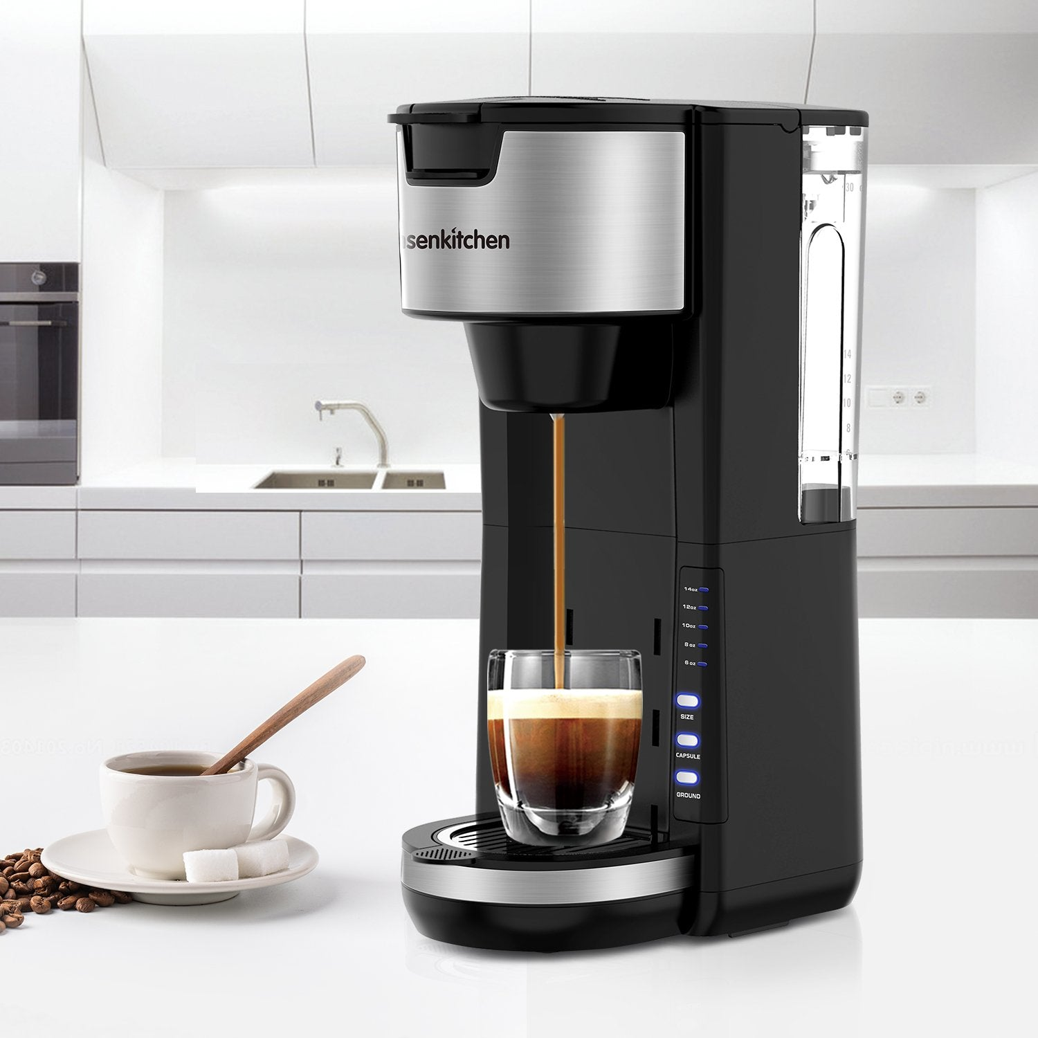 Bonsenkitchen 2 in 1 Compact and Durable K-Cup Coffee Maker - Bonsenkitchen