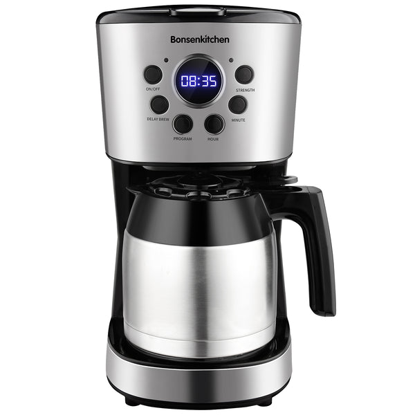 Bonsenkitchen 10-Cup Programmable Coffee Maker 50oz