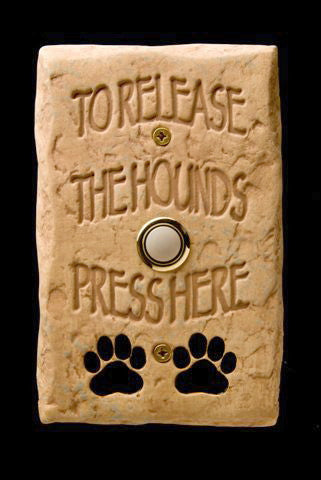 Release the Hounds Doorbell With Lighted Button