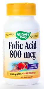 Vitamin b Folic Acid 100 caps