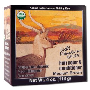 Natural Hair Color and Conditioner Medium Brown