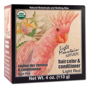 Natural Hair Color and Conditioner Light Red