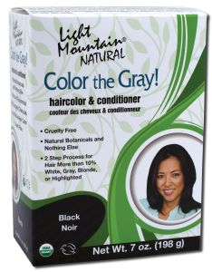 Color the Gray Natural Haircolor and Conditioner Black