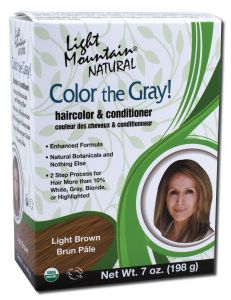 Color the Gray Natural Haircolor and Conditioner Light Brown