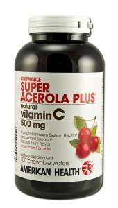 Chewable Vitamin C Super Acerola Plus 500 mg 100s