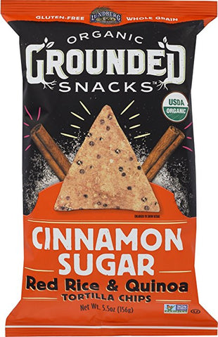 Lundberg Organic Grounded Snacks Cinnamon Sugar Red Rice & Quinoa Chips