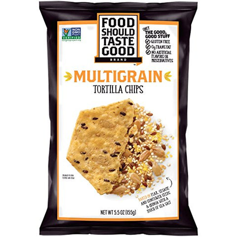 Food Should Taste Good, Tortilla Chips, Multigrain, Gluten Free Chips, 5.5 oz