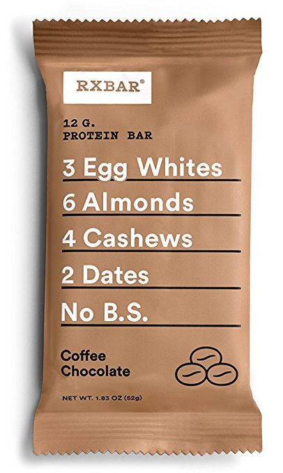 RXBAR Whole Food Protein Bar, Coffee Chocolate, 12 Count