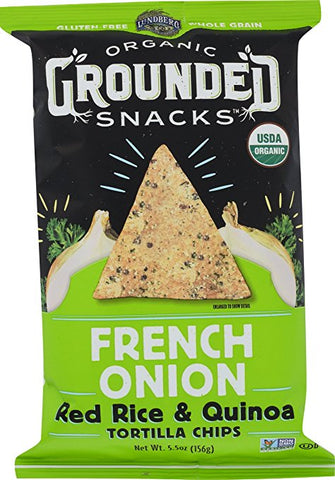 Lundberg Organic Grounded Snacks French Onion Red Rice & Quinoa Chips