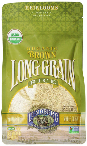Lundberg Organic Long Grain Brown Rice - 32 oz (Pack of 6)