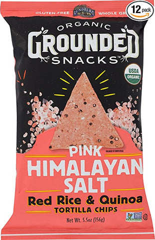 Lundberg Organic Grounded Snacks Pink Himalayan Salt Red Rice & Quinoa Chips