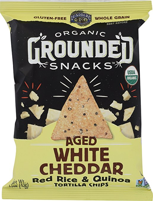 Lundberg Organic Grounded Snacks Aged White Cheddar Red Rice & Quinoa
