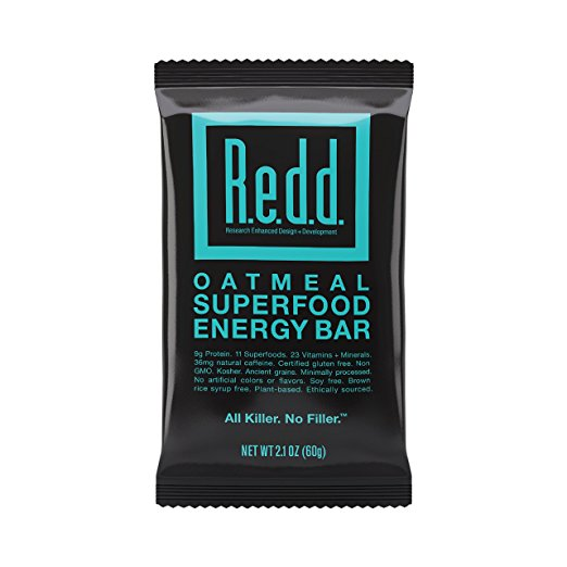 Redd Gluten Free Vegan Superfood Energy Bar, Oatmeal, 12 Bars