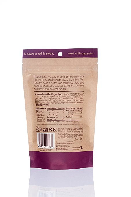 The GFB Gluten Free, Non-GMO High Protein Bites, PB+J, 4 Ounce