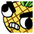 Party__Pineapple Full Angry Sticker