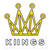 KiiNGS Crown Text Sticker