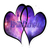 BrittNichole Galaxy Hearts Sticker