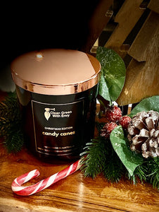 Xmas edition soy candle XL - candy canes