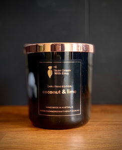 *XMAS EDITION SOY CANDLE XL - Coconut & lime*