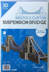 3D Puzzle of Clifton Suspension Bridge