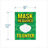 Mask Required Window Cling