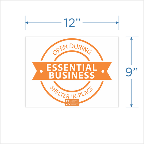 """Essential Business"" Window Cling"