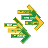 Subway Directional Floor Arrow - Set of 6