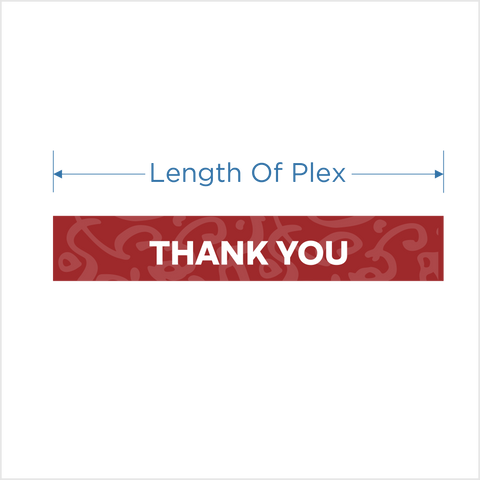"""Thank You"" 6"" Message decal for Protective shield"
