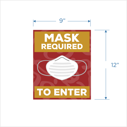 Mask Required Window Decal