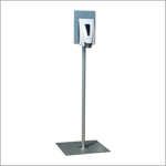 Floor Stand for Hand Sanitizer Dispenser (Not included) - Silver