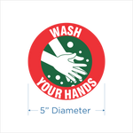 "5""    ""Wash Your Hands"" -  Set of 12"