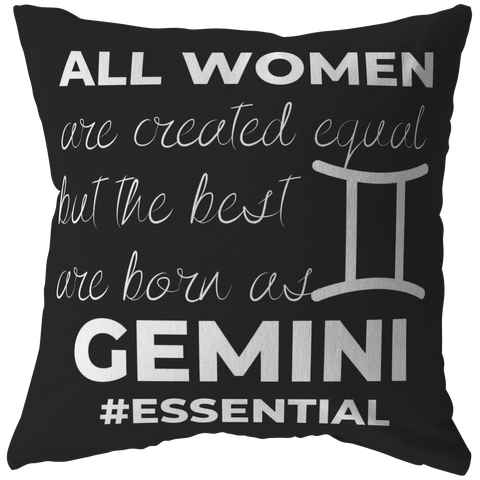 The Best Women Are Born Gemini Pillow - ZodiActiveLife