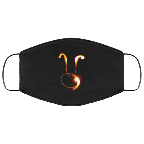Taurus Zodiac Sign Fire Stick Face Mask
