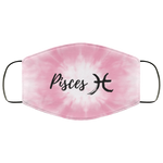 Pisces Pink Tie Dye Face Mask