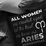 The Best Women Are Born Aries Pillow - ZodiActiveLife