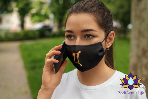 Gemini Zodiac Sign Fire Stick Face Mask