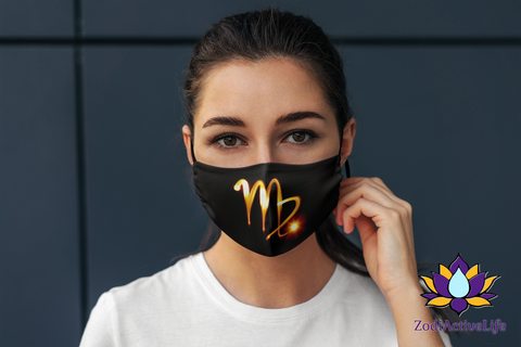 Virgo Zodiac Sign Fire Stick Face Mask